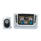 H116G USB inalámbrico multifuncional reloj de pronóstico del tiempo termómetro electrónico medidor de humedad