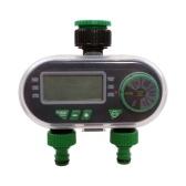 YL21060 Двухпортовый цифровой таймер для воды Электронный электромагнитный клапан ирригационный контроллер с функцией задержки дождя для автоматического / ручного полива сада
