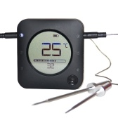 Беспроводной зонд BT для термометра для барбекю Термометр для выпечки, подключенный к приложению Термометр для еды ЖК-термометр