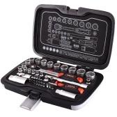 3/8インチ45PCS多機能スパークプラグソケットビットツールセット72歯フラットヘッドラチェットレンチ自動検査修理ツール高精度多目的実用ツールセット