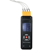 4-Channel K-Type Digital LCD Thermometer Thermocouple Sensor -50~1350°C/-58~2462°F Data Hold Function