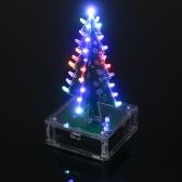 DIYカラフルな簡単に楽しい電子学習キットモジュールLEDライトアクリルクリスマスツリーを作る