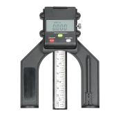 0-130mm Indicador LCD digital Altura Calibre Calibre de profundidade Medidor de altura da serra de mesa com três unidades de medição Parafuso de bloqueio para mesa de roteador de madeira