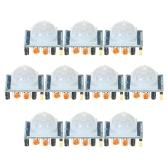 10pcs HC-SR501 IR infrarrojo piroeléctrico IR infrarrojo Sensor de movimiento del módulo de detección