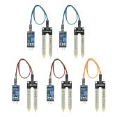 5pcs Higrómetro de umidade Módulo de sensor de detecção de umidade Sistema de rega automático para Arduino