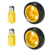 2 Set DC Gear Motor + Tire Wheel para Arduino DC 3V-6V Smart Car DIY Project