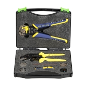 PARON Professional Wire Crimpers Multifunctional Engineering Ratcheting Terminal Crimping Pliers Wire Strippers Bootlace Ferrule Crimper Tool Cord End Terminals Pliers Kit