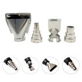 4 unids accesorios de la máquina de aire caliente universal de acero inoxidable boquillas kit eléctrico bricolaje industrial máquina de aire caliente herramienta