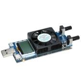 多機能0.2A〜3A 35W LCD USB電子負荷テスターモジュール冷却ファン付き調整可能な定電流抵抗パワーバッテリーテスター