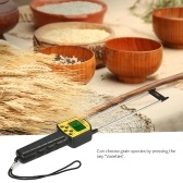SMART SENSOR Handheld LCD Digital Grain Moisture Meter Hygrometer with Measuring Probe for Corn Wheat Rice Bean