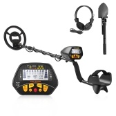 Metal Detector Underground Gold Finder Treasure Hunter with LCD Display Gold Digger with Headphone & Shovel