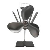 Ventilador de estufa de 3 palas con horno térmico Chimenea ultra silenciosa Ventilador ecológico de leña para una distribución eficiente del calor