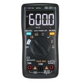 RM102Pro автоматический мультиметр 6000 отсчетов подсветка AC / DC амперметр вольтметр сопротивление диода емкость температура