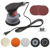 400W Random Orbit Sander 5-Inch Variable Speeds Electric Sander Polisher with Holes Cushion Sandpapers Sponge Wool Cotton Plate Dust Collector for Sanding Finishing Polishing