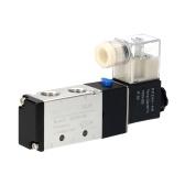 KKmoon空気圧空気制御ソレノイドバルブDC24V PT1 / 4