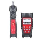 KKmoon Wire Tracker Портативный многофункциональный тестер кабеля RJ11 RJ45 Телефон и сеть Поиск линии с разъемом для наушников Светодиодный индикатор для обслуживания сети