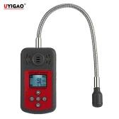 UYIGAO Brand New Ручной портативный Автомобильный мини Горючий газ детектор утечки газа Расположение Определите тестер с ЖК-дисплеем звуковой и световой сигнализации