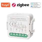 Tuya ZigBee Intelligent Curtain Switch Module Three-way Switch Module Intelligent Home Roller Blind Curtain Modification Module Mobilephone APP Remotes Control Compatible with Alexa Google Home Voice Control Need to be Used with Gate-way