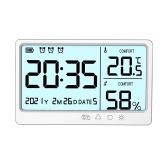 Multifunktionales Temperatur- und Feuchtigkeitsmessgerät Hochpräzises Thermo-Hygrometer mit Hintergrundbeleuchtung
