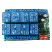 12V 8CH RS485 Relay Modbus RTU Protocol Serial Port Remote Control Switch for PLC Control Board