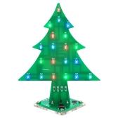 Module de kit d'apprentissage électronique de BRICOLAGE d'arbre de Noël acrylique fait sur commande facile coloré de DIY