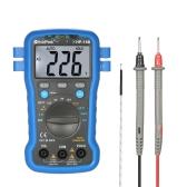 HoldPeak Backlight Visor LCD Multi-funcional Multímetro digital DC / AC Tensão Corrente Temperatura de resistência do medidor Teste de bateria Teste de continuidade do diodo com correia de pulso