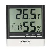 KKムーンLCD℃/℉デジタル温度計湿度計温度湿度計目覚まし時計