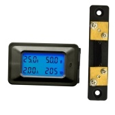 Multi-functional 100V 50A LCD Backlight Display Digital Meter Voltage/Current/Power/Energy Tester Monitor Multi-meter Ammeter Voltmeter with External Shunt