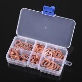 110pcs Solid Copper Gasket Assorted Copper Washers Sealing Ring Set