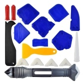 18Pcs Caulking Glue Scraper Tools Set Glue Sealant Glass Glue Scraper Tool