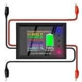 0-380V 0-30A Multímetro digital com tela colorida de 2,4 polegadas Medidor de energia elétrica Tensão / corrente / potência / energia / monitor de detector de teste de capacidade