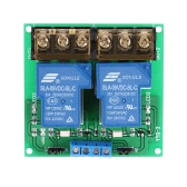 2 canaux Conseil Module DC 5V 30A Relais Optocoupler Isolation High / Low Trigger