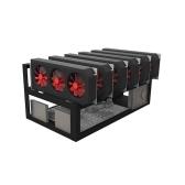 スチールコインオープンエアマイナー鉱山フレームリグケース最大8 GPU BTC LTC ETH Ethereum