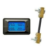 Multi-functional 100V 100A LCD Backlight Display Digital Meter Voltage/Current/Power/Energy Tester Monitor Multi-meter Ammeter Voltmeter with External Shunt