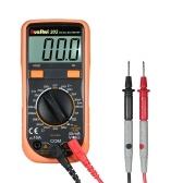 RuoShui 1999 zählt Mini-Digital-Multimeter Multifunktions-Multimeter Handheld-Amperemeter Voltmeter Messung von DC / AC-Spannung DC-Strom Widerstand Diode Tester Durchgangstest LCD-Display Square Wave-Ausgang