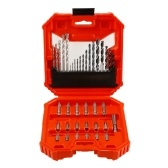 38pcs Multi-purpose Drill Bit Set High Speed Steel(HSS) Drills Masonry Drill Bit Carbon Steel Wood Drill Bit Round Shank Woodworking Drill Slotted Phillips & Pozi Screw Bits