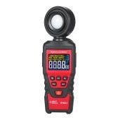SMART SENSOR ST6813 Handheld Illuminometer LCD Color Screen Digital Illuminance Light Lux Meter Measurement Tool Battery Operated Photometer Luxmeter with 180° Rotatable Probe Measuring Range Up to 100,000 Lux / 10,000 FC and 1pc Tool Bag for Indoor Plant Grow LED Lights