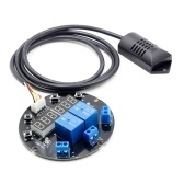 DC 12V Humidity Temperature Controller Module Digital Display Thermometer Hygrometer Controller Board 1M Sensor Dual Relay Outputs