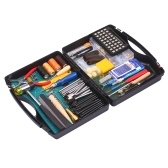 Инструменты и принадлежности для работы из кожи, 273 предмета, с чемоданом для хранения Основные аксессуары для рукоделия из кожи