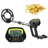 High Precision Underground Metal Detector 3.1-inch LCD Metal Locator Treasure-hunting Device Sensitivity Adjustable Notch & DISC Mode Pinpointing Function