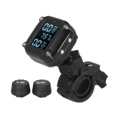 Waterproof Motorcycle Tire Pressure Monitoring System 7 Alarm Modes Wireless TPMS Auto Wake Up and Sleep Magnetic Charging Port with 2 External Sensors