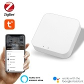 Tuya ZigBee3.0 Wireless Intelligent Home Gate-way Intelligent Home Life Multifunction Equipment Linkage Central Control Compatible with Alexa Google Home