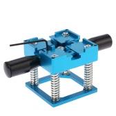 Portable Aluminium Bleu BGA Reball rebillage station Stencil base Holder Kit avec 2 poignées 1 Clé