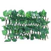 Expandable Courtyard Fence Home Retractable Artificial Garden Fence Gardening Decorative Tools Home Yard Balcony Fence (  big scindapsus leaves)