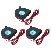 3pcs DC12V 5015 Cooling Blower 2-pin Exhaust Fan 50x50x15mm Centrifugal Fan for 3D Printer Humidifier Aromatherapy and Other Small Appliances