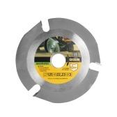 125mm 3 Teeth Circular Saw Web Multifunctional Grinding Machine Grinder Saw Disc Carbide Tipped Wood Cutting Blade Power Tool Accessories