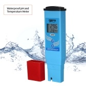 Waterproof pH and Temperature Meter pH/Temp. Dual Display Portable pH Meter Water pH Meter Auto Calibration ATC Tester Water Quality Analysis Device