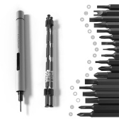 WOWSTICK Double Power Accurate Schraubendreher Mini Portable Electric Screw Driver Kit mit 18 verschiedenen Bits