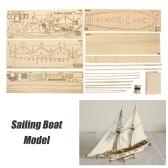 DIY Ship Assembly Model Kits Holz Segelboot Skala Modell Dekoration Spielzeug Geschenke für Kinder Erwachsene