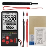BSIDE 9999 Counts Smart Multimeter True RMS Digital Multimeter Measuring AC/DC Voltage Resistance Frequency with LCD Display DC/AC Voltage Meter Resistance Capacitance Diode Tester Measure Continuity V ~ Alert and Live Wire Check